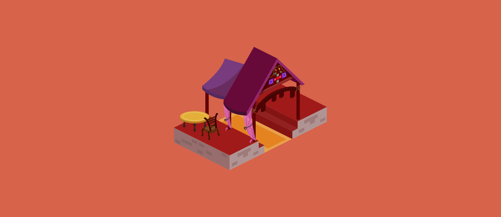 Indian Restaurant Illustration 1