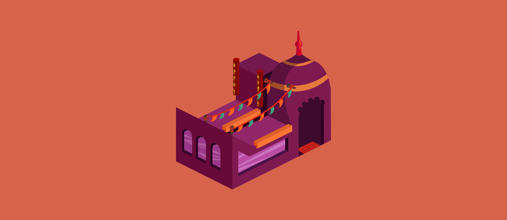 Indian Restaurant Illustration 3